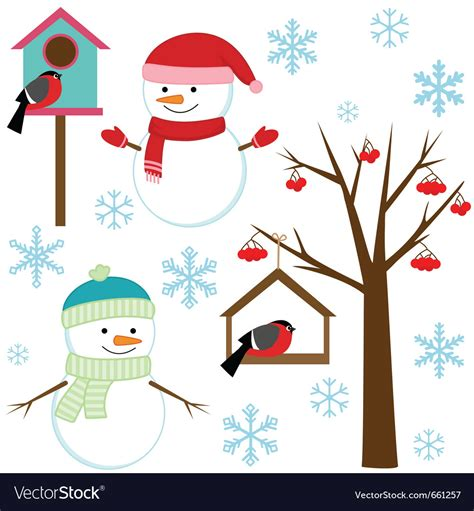 set of vector graphic elements royalty free stock photos set of winter elements royalty free vector image