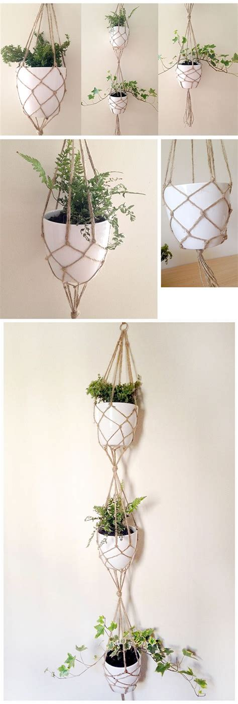 Macrame Plant Holder Tutorial - diy vertical plant hanger tutorial i really macram 233