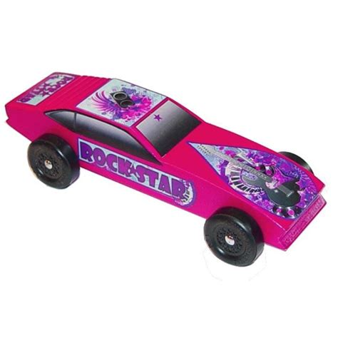 Build A 2 Car Garage by Rock Star Pinewood Derby Car Kit For Girls