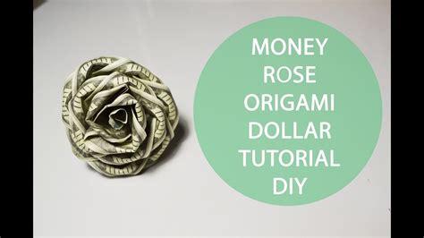 Origami Money Flower Tutorial - money origami folded dollar tutorial diy flower my