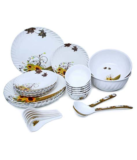 Set Biry birdy multicolour melamine dinner set 28 pieces buy