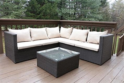 Oliver Patio Set by Oliver Smith Large 4 Pc Modern Rattan Wiker Sectional