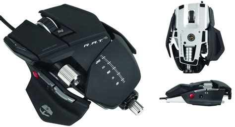 Mad Catz Rat5 Rat 5 Gaming Mouse Mcb4370500b2041 Gloss Black saitek cyborg r a t 5 gaming mouse