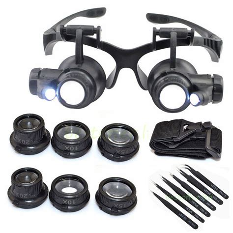 magnifying goggles with light 25x magnifying eye magnifier glasses loupe lens jeweler