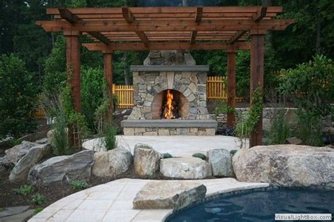 outdoor fireplace pergola pergola with fireplace outside projects