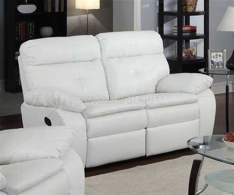 Leather Recliner Sofa by White Leather Reclining Sofa Smalltowndjs