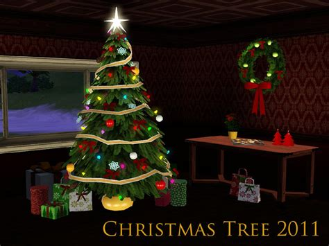 christmas decorations on sims 3 sim man123 s tree 2011
