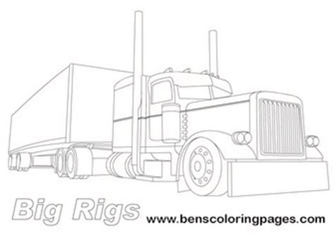 big rigs lorry coloring page