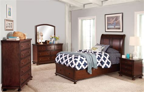 jesse bedroom furniture jesse youth cherry brown youth storage bedroom set from