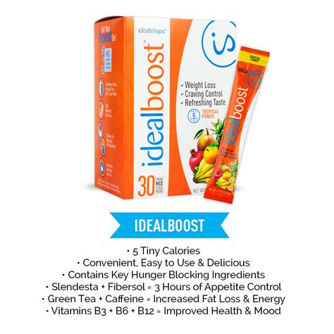 energy drink packets idealboost direct from idealshape weight loss drink