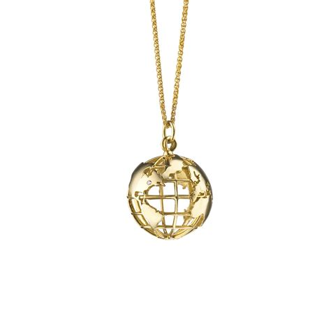 my earth 18k gold charm necklace