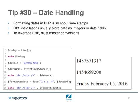 format date zend php tips for ibm i in 60 mins