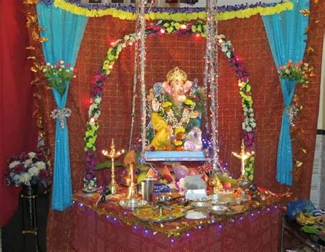 25 ganesh chaturthi decoration idea pictures