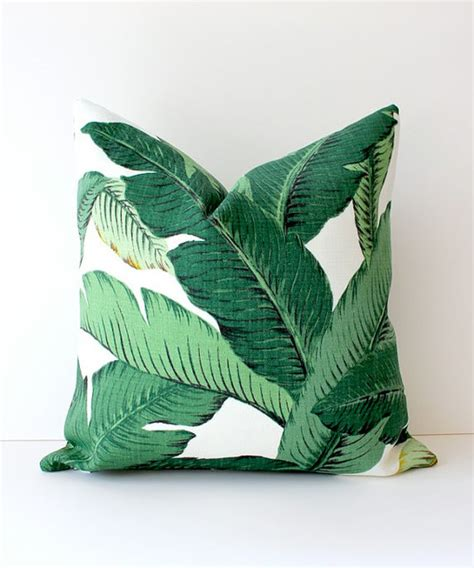 tropical pillows decorative green floral decorative designer pillow cover by whitlock