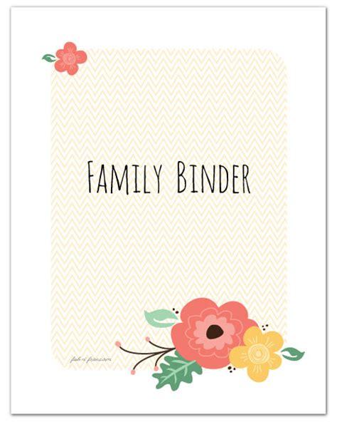 Home Organization Binder binder covers fab n free