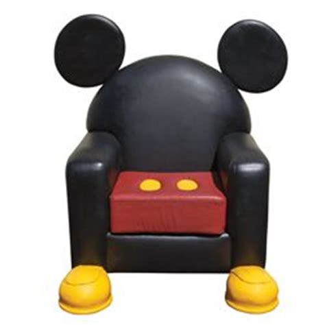 mickey mouse leather chair from disney world town