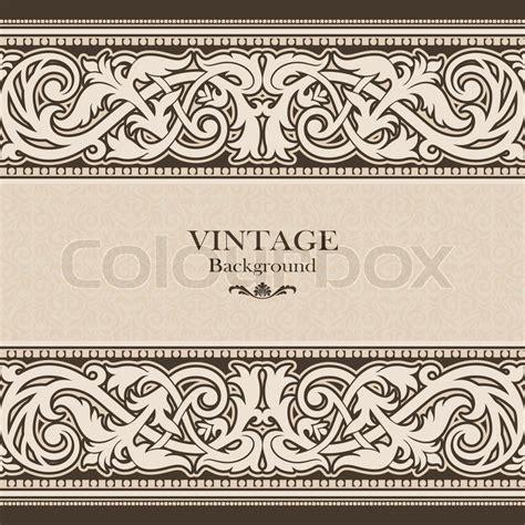 vintage ornament vector pattern vintage background antique victorian ornament baroque