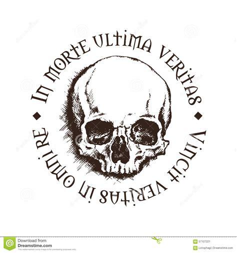 tattoo inscriptions latin vector skull with a latin inscription stock vector image