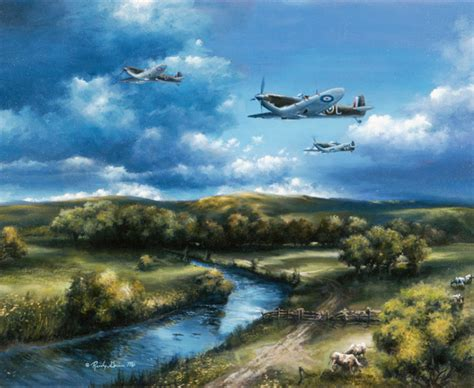 Wallpaper Sticker Uk 10 M Wsp 10 011 spitfires of the royal air wall mural traditional wall stickers