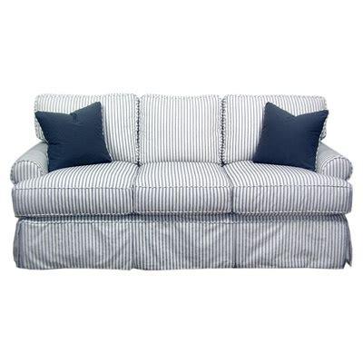 blue striped sofa blue ticking stripe sofa livingroom pinterest