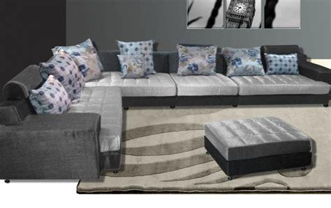 cuscini pouf divano modello desire 325x250 cm moderno angolare con pouf