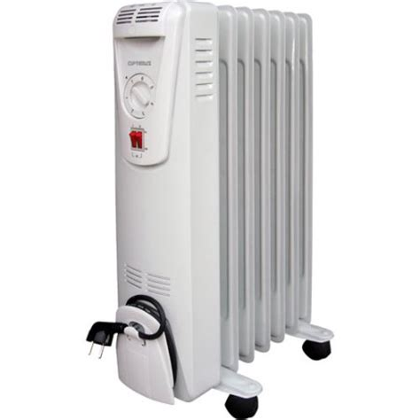 optimus electric portable filled convection radiator