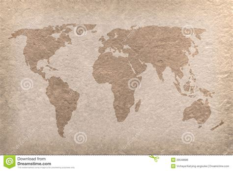 Map Craft Paper - vintage world map paper craft royalty free stock image