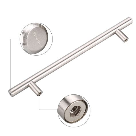 6x t bar stainless steel door knobs kitchen cabinet