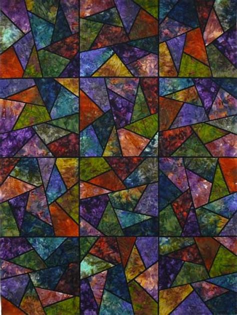 Stained Glass Quilting by Stained Glass Quilt Sewing