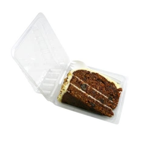 Cake Container clear hinged cake slice container cleanwipes