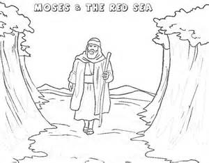 what color was moses free coloring pages of moses and the sea