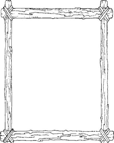 cornici per disegni cornice in legno disegni da colorare di cowboys disegni
