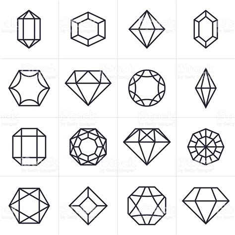 Gem Outline by And Gem Icons And Symbols Stock Vector 500735978 Istock
