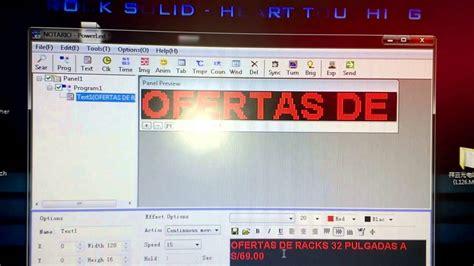 tutorial de como utilizar videopad tutorial para letreros led youtube