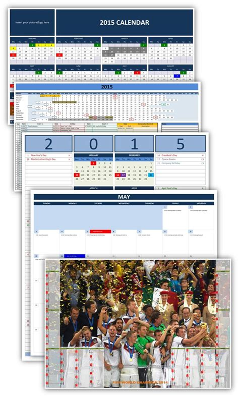 Calendã Can 2015 Excel 2015 Calendar That You Can Type On Just B Cause