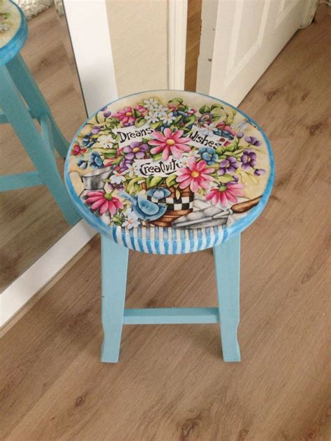 Decoupage Stool - 131 best images about tabureler stool on