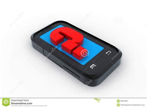 Or Question On Phone Smart Phone With Question Stock Photo Image 38043302