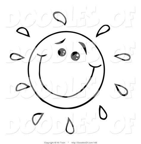 happy sun coloring page image gallery smile doodle