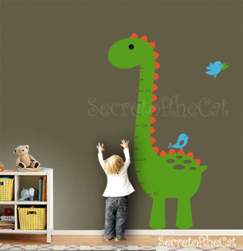 Removable Wall Stickers Uk wall decal kids growth chart dinosaur growth by secretofthecat