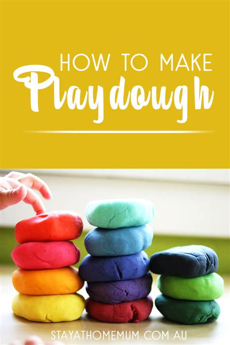 how to make playdough stay at home