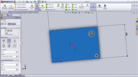 solidworks tutorial hole wizard 12 solidworks beginner tutorial hole wizard youtube