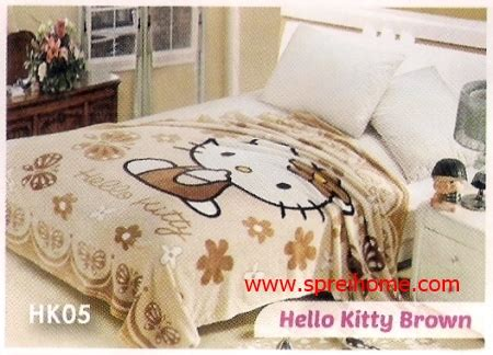 Selimut Blossom Hello selimut blossom soft panel motif hello balmut