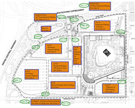 citi field map citi field parking prices tips discounts