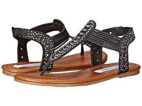 steve madden jcontess kid big kid black fabric shoes sandals flat steve
