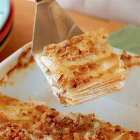potato rutabaga gratin with blue cheese finecooking