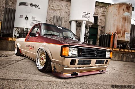 Bbs Rs On Bagged Volkswagen Caddy Rabbit Pickup Jdmeuro Com