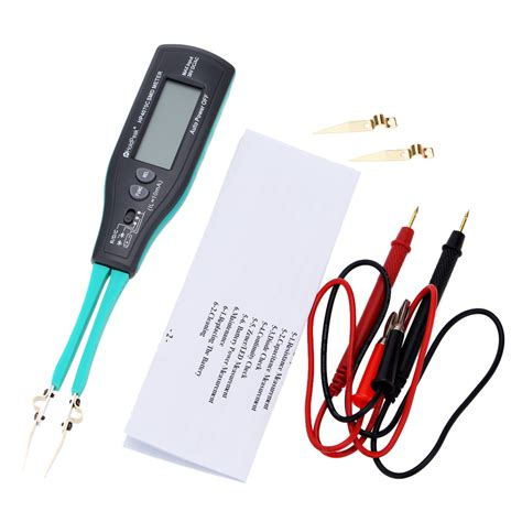 testing capacitor continuity handheld smart smd tester tweezers resistor intelligent testing capacitor diode continuity