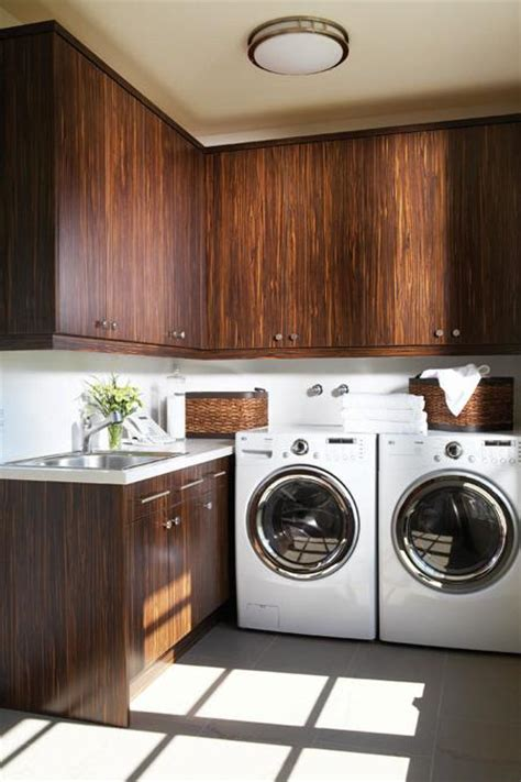 Contemporary Laundry Room Ideas Veneer Cabinets Contemporary Laundry Room Douglas Design Studio