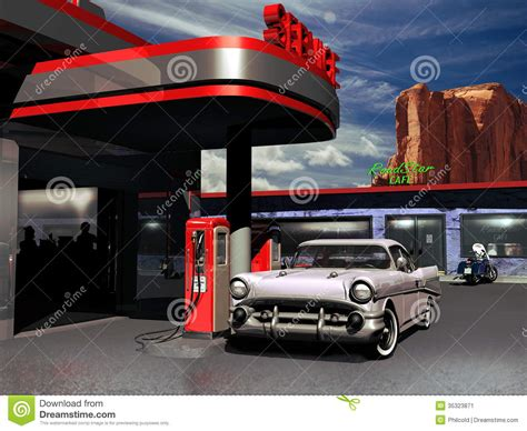 Open House Plans With Photos by Retro Gas Station Stock Image Image 35323871
