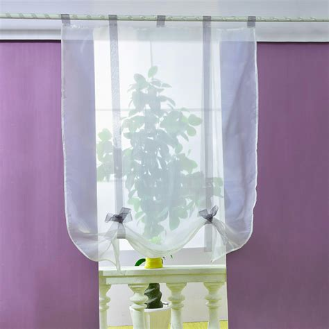roman blinds with net curtains voile sheer curtains roller curtain kitchen bathroom tulle